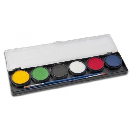 6 Alap színű arcfesték paletta - Diamond FX 6 Basic color face paints palette Arcfesték paletta